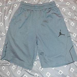 Gray Air Jordan Shorts Boys Size M (10/12)